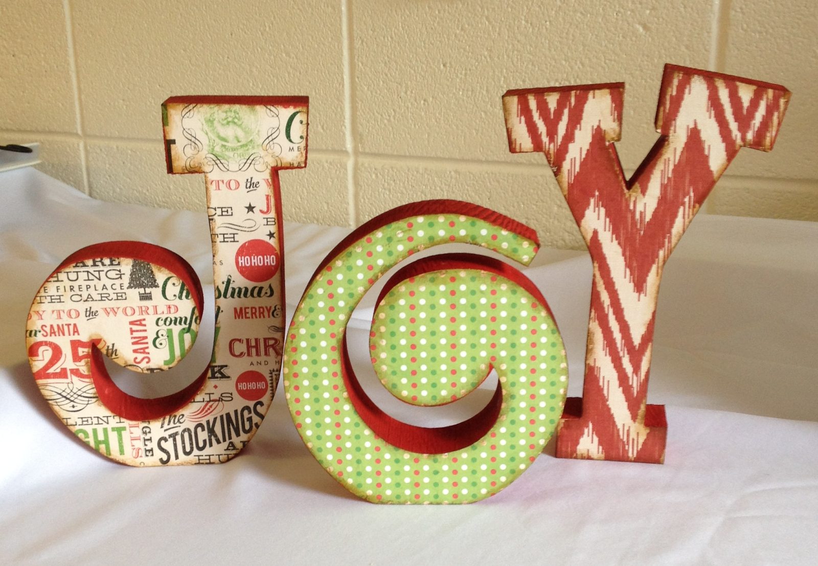 How to glue scrapbook paper to wood letters - Kit Includes Wood Letters Coordinating Scrapbook Paper Paint And Glue Supplies Needed Scissors