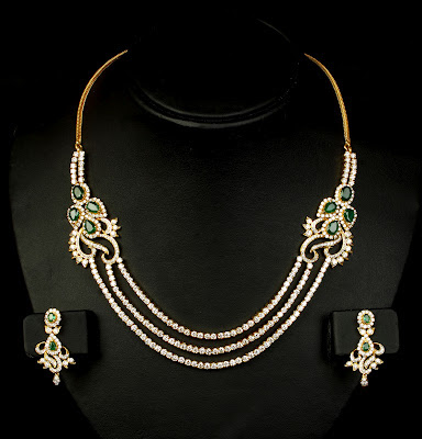 VBJ Three row Diamond Necklace Models