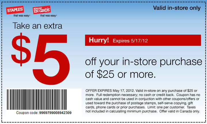 Staples Coupons & Promo Codes. 23 verified offers for December, To find more promotional offers and coupon codes for your Staples purchase, you can check the online deals at shopteddybears9.ml Zerbee Coupon. Quill Coupons. HP Coupon Code. Office Super Savers Coupon. Dell Outlet promo codes. shopteddybears9.ml Promo Code. Lenovo Canada promo codes.