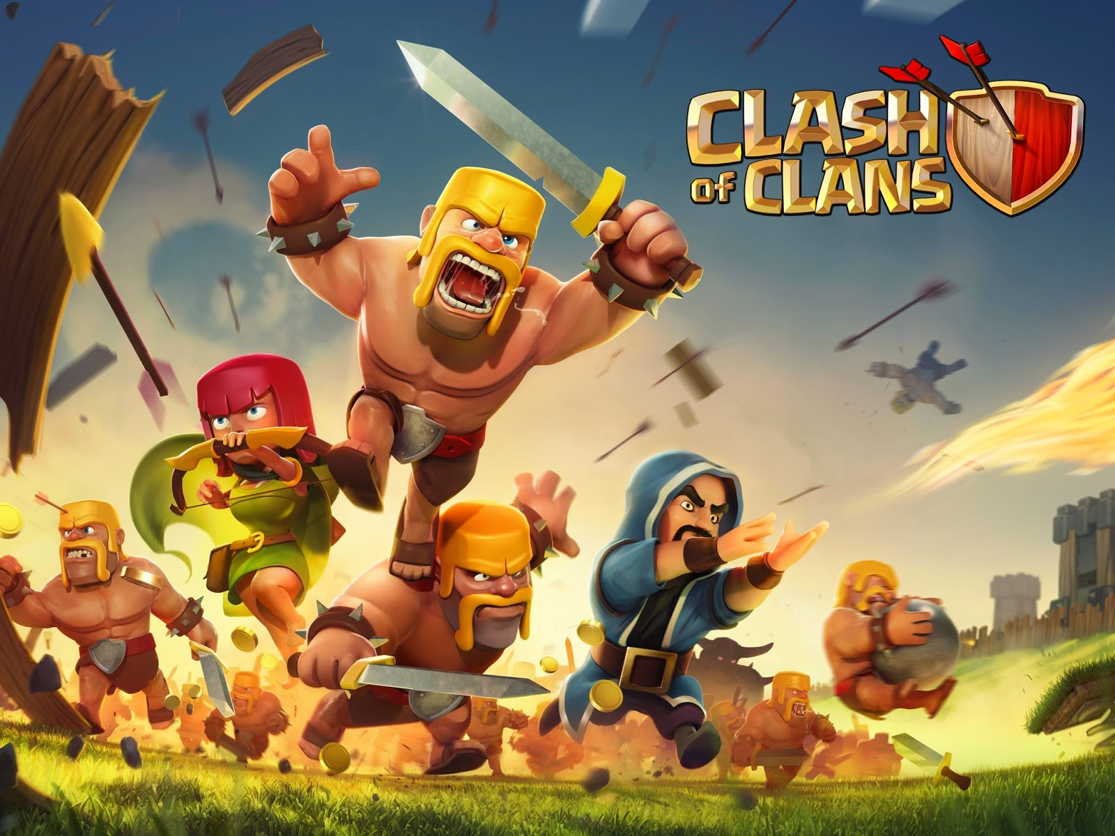 Clash of Clans Supercell Game HD Wallpaper