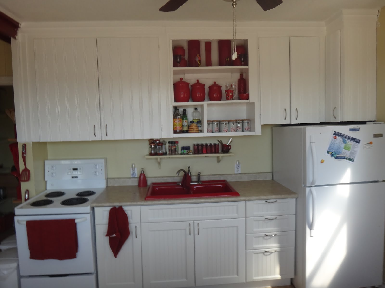 finally finished kitchen cabinets kitchen cabinets okc well now we have finally finished painting the upper cabinets woohoo it really brightens up the kitchen and gives a sorta kinda feeling of the kitchen