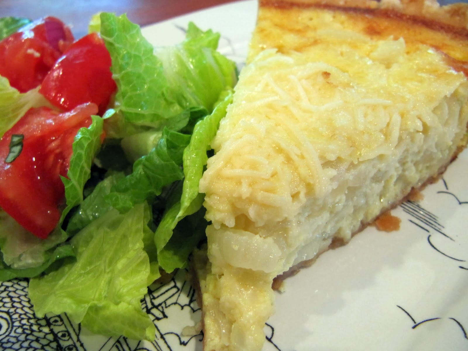 Creamy Onion Tart Recipe — Dishmaps