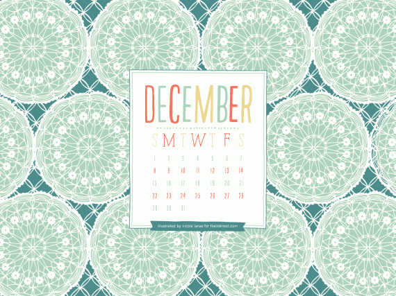 Desktop Wallpaper Calendar – December 2013