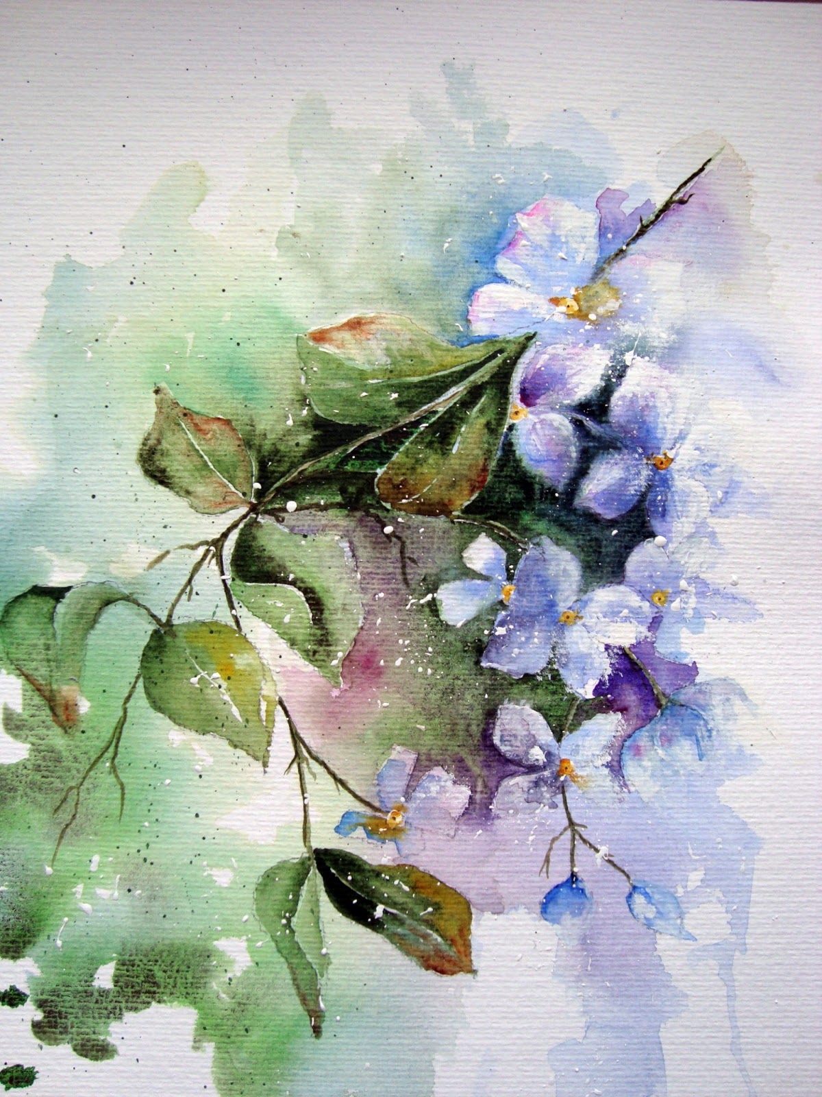 Watercolour florals march 2013 for Best art websites for artists