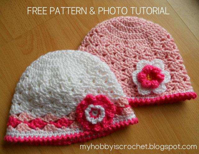 Free Crochet Pattern For Toddler Girl : My Hobby Is Crochet: Spring lacy hat for little girls ...