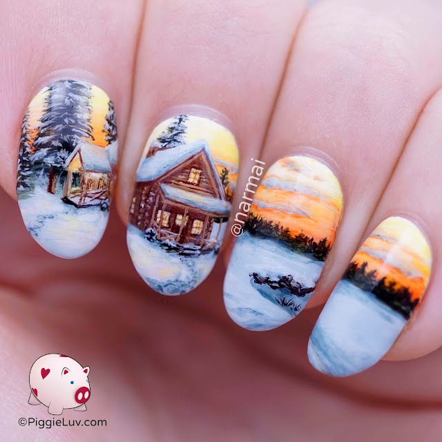 Freehand Christmas Nail Art Designs