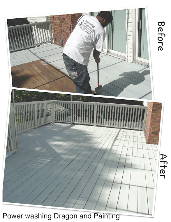 Hand brush staining decks board by board is the best technique