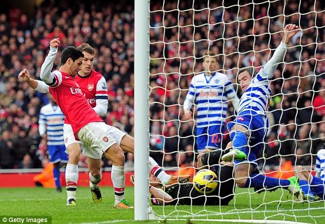 Hasil Pertandingan Arsenal vs QPR 1-0, Liga Inggris 17 Okt 2012