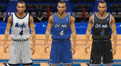 NBA 2K13 Orlando Magic 1990 Throwback Jerseys