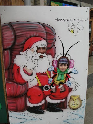 santa and the honey bee
