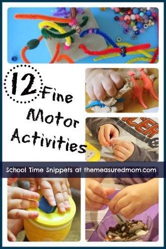 Fun fine motor activities for kids the measured mom for Motor skills for toddlers