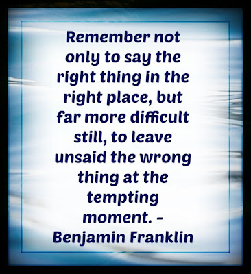Quote from Benjamin Franklin on water background
