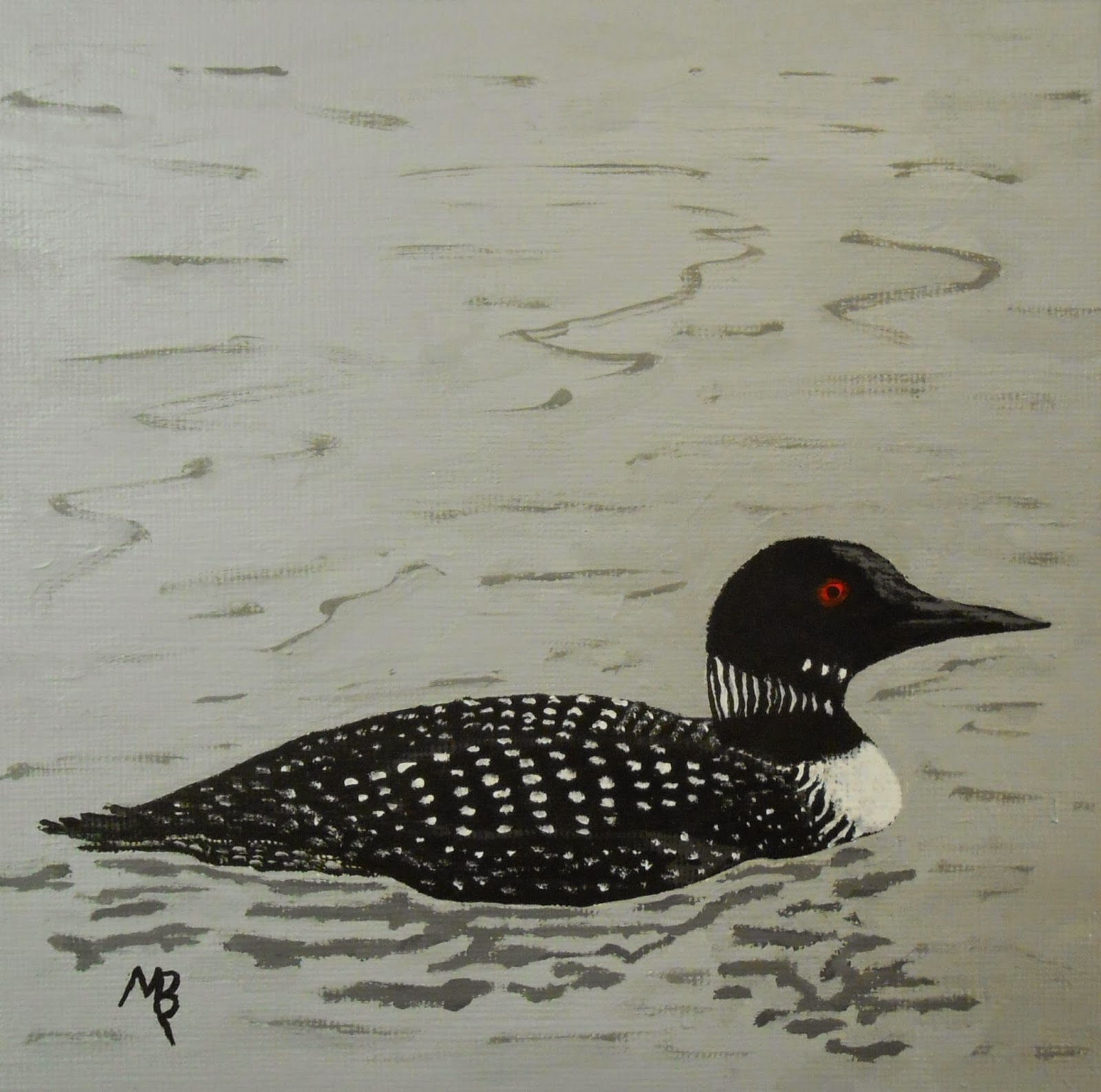 Loon painting - photo#27