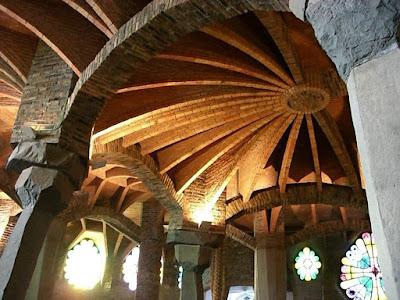 Crypt of Colònia Güell in Barcelona