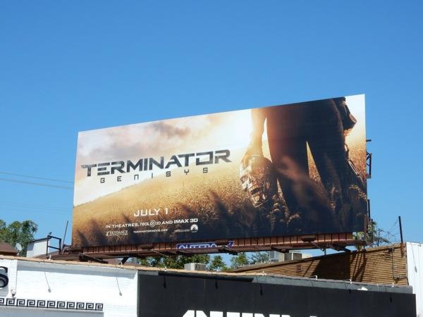 Terminator Genisys teaser billboard