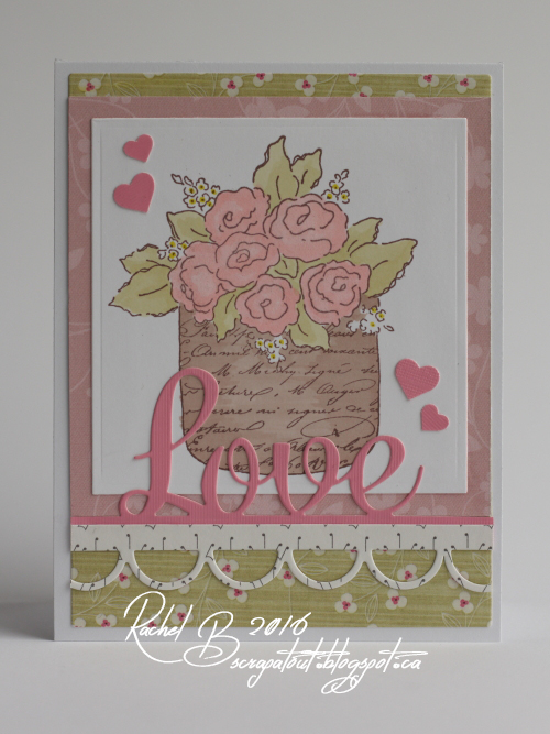 Scrapatout - Handmade card, Flowers, Love, Impression Obsession