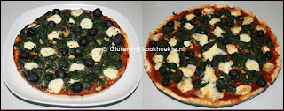 links met mozzarella en rechts met brie
