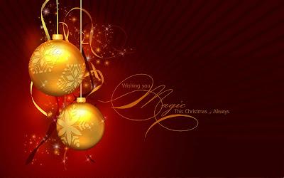 Feliz navidad en ingles color rojo oscuro