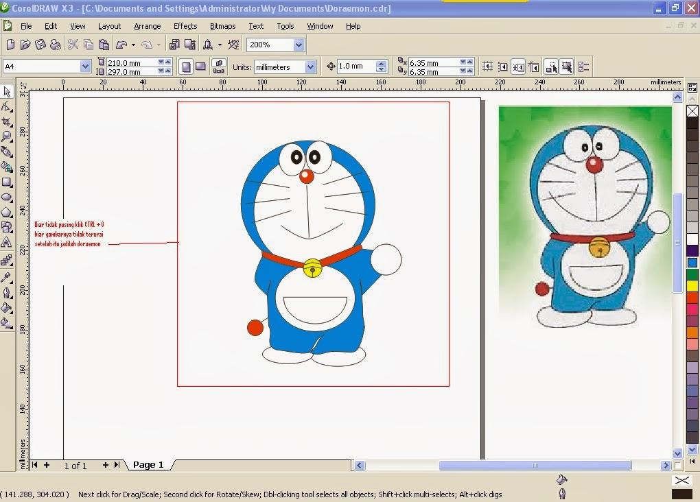 Explain your experiences: Tutorial membuat Karakter Doraemon