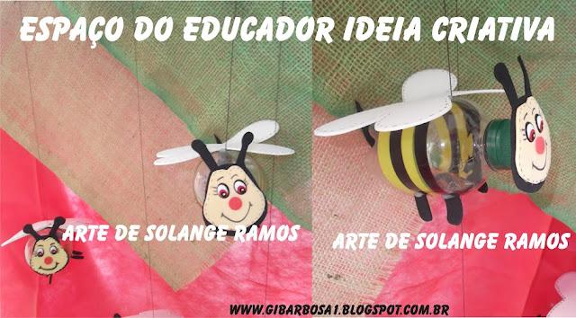 Abelhinha de Garrafa Pet  Espaço do Educador