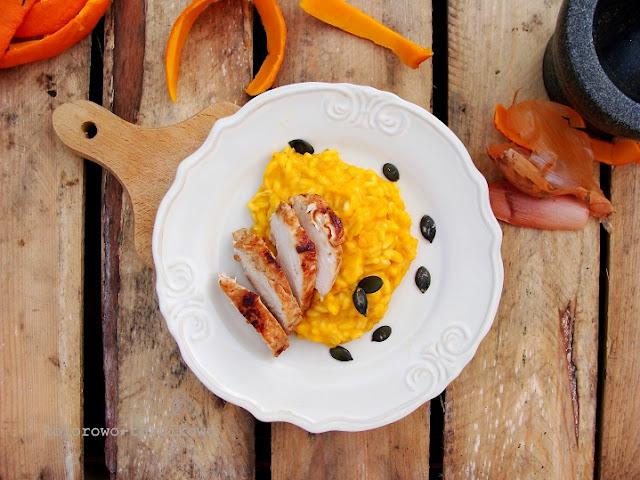 kremowe risotto z kurczakiem