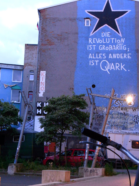 Sprengelgelände Hannover Fahrradlenker abends