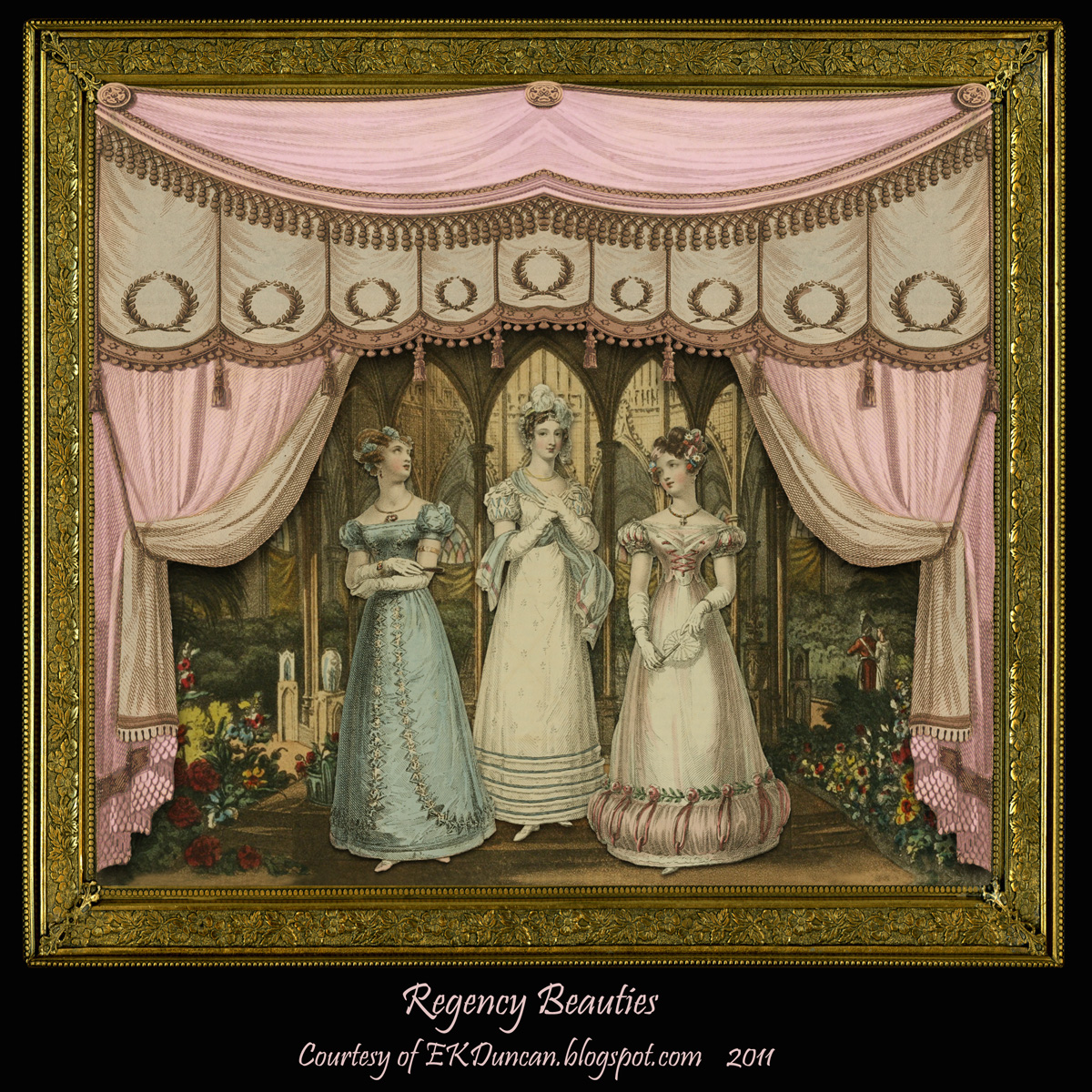 Regency: My Fanciful Muse: Curtains Set The Stage