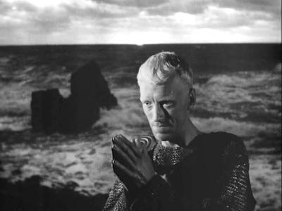 Max von Sydow as Antonius Bloc, crusading knight, the seventh seal, directed by ingmar bergman