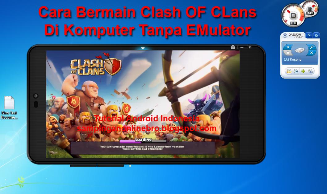 clash of clans pc tanpa emulator