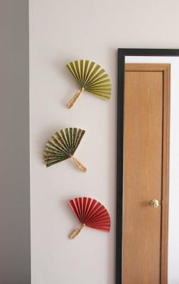 как сделать веер на стену