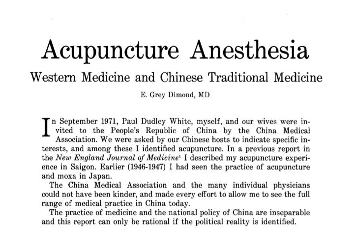 Acupuncture essay writing