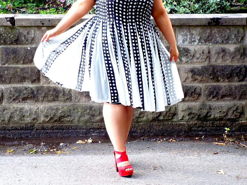 ASOS Curve Fit and Fit Polka Dot Dress