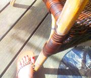 Fuß im Urlaub