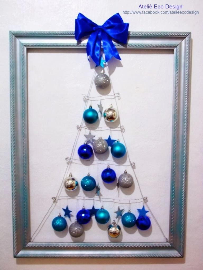 decoracao de arvore de natal azul e dourado : decoracao de arvore de natal azul e dourado:+de+natal+azul,+caixote,+candelabros,+taças,+quadros+de+natal