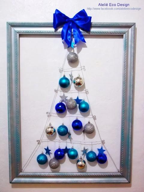 decoracao arvore de natal azul:+de+natal+azul,+caixote,+candelabros,+taças,+quadros+de+natal