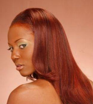 Auburn Hair Color On Black Women
