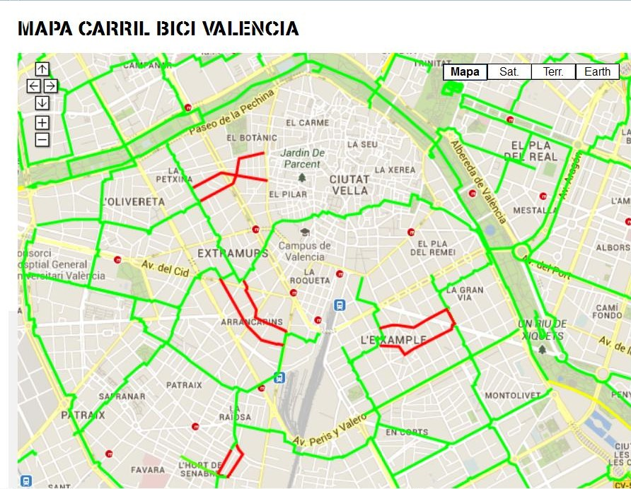 Globexs Valencia Bike Paths in the City Center