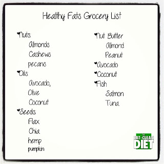 healthy fats grocery list