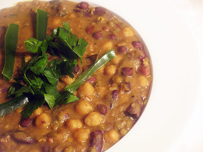 Indian mixed bean curry
