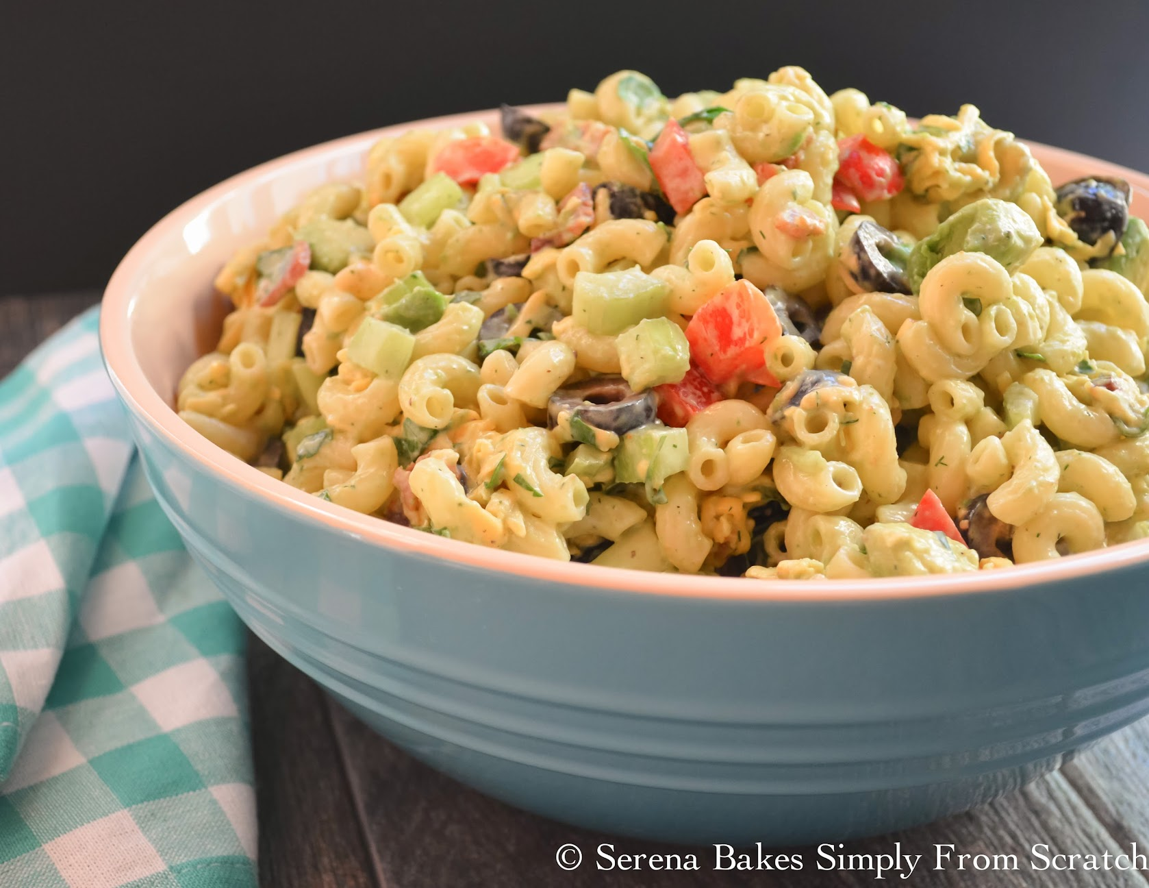 Creamy Avocado Bacon Pasta Salad with Dill Dressing is perfect for picnics and barbecues.