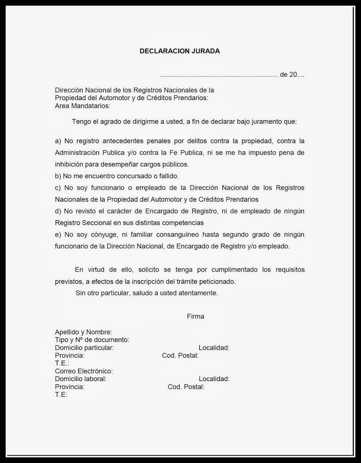 Declaracion Jurada Incompatibilidades Quot Escribir Es