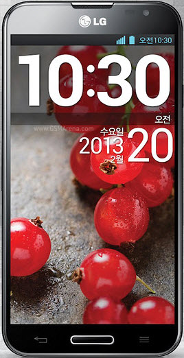 LG Optimus G Pro smartphone with 5.5 inch screen