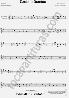 Cantate Domino  Partitura de Trompeta y Fliscorno Sheet Music for Trumpet and Flugelhorn Music Scores