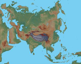 Dilsiz Asya K�tas� Fiziki Haritas�