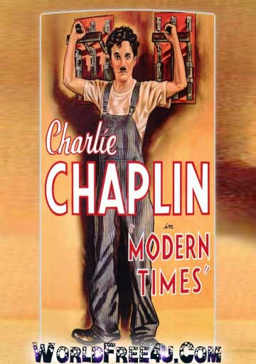 Poster Of Charlie Chaplin Modern Times (1936) 300MB Compressed Small Size Pc Movie Free Download Only At worldfree4u.com