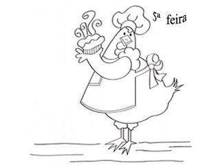 riscos de galinha para pintar
