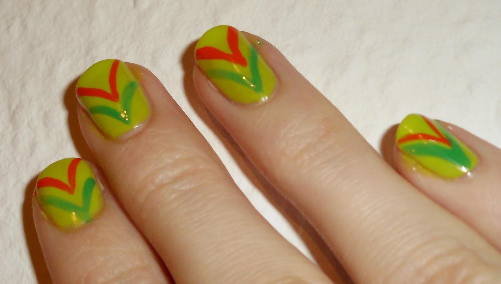 nageldesign neonfarben - Sommer Nageldesign 60 Ideen für einen sommerlichen Look