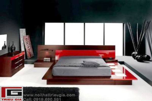 Thiết kế thi công giường ngủ, giường ngủ hiện đại, nội thất phòng ngủ ấn tượng,