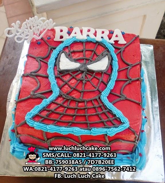 Kue tart Spiderman Buttercream Daerah Surabaya - Sidoarjo