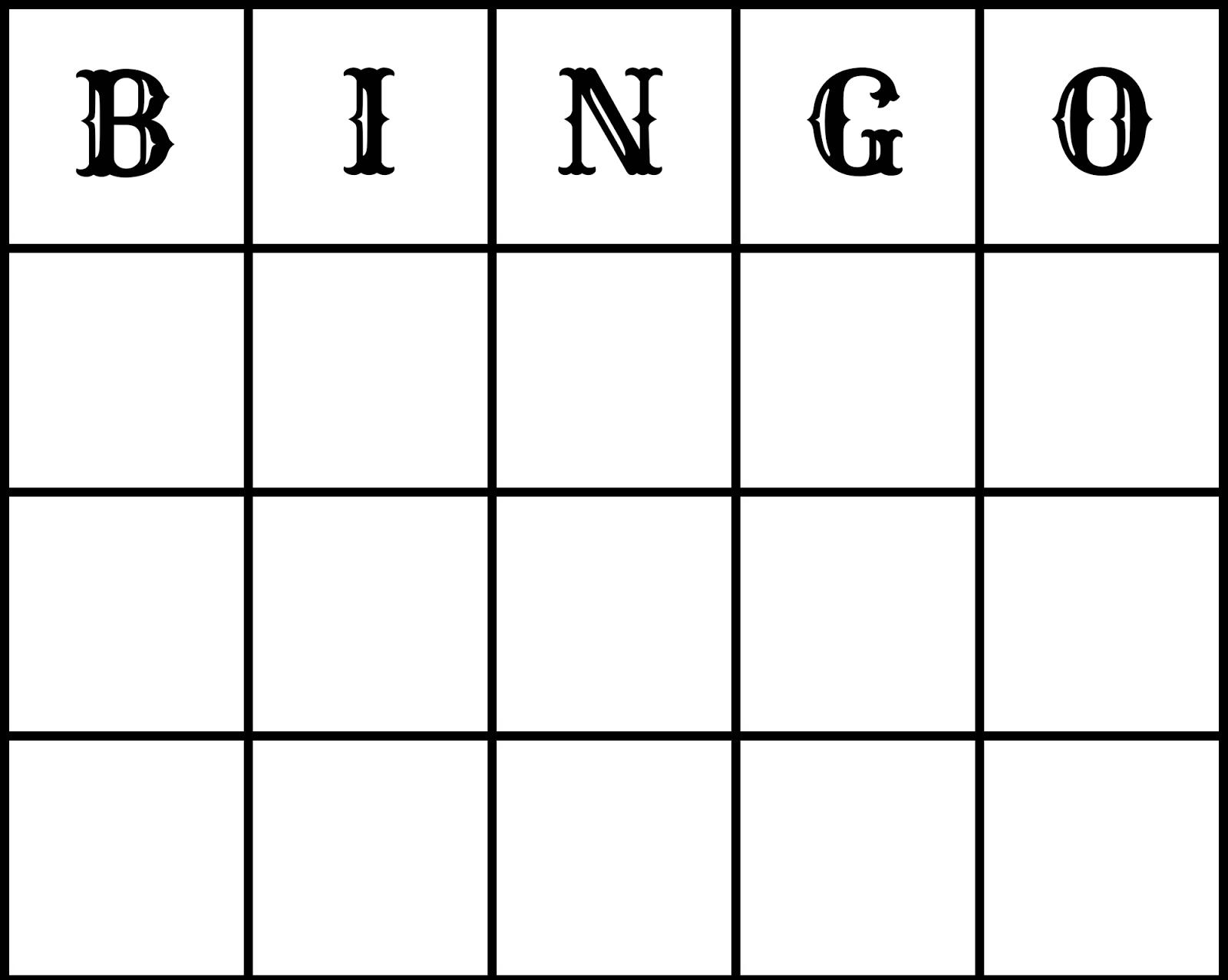 Printable Blank Bingo Board Game Pictures to Pin – Blank Bingo Template